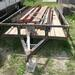 16 ft. flat trailer with building iron -